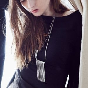 Urban Outfitters Fringe Pendant Necklace